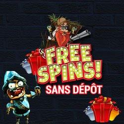 Bonus sans dépôt free spins